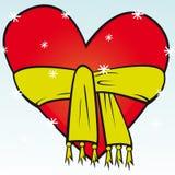 красный цвет сердца Стоковые Фото
