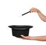 重点帽子魔术师 免版税库存照片
