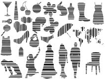 коды штриховой маркировки различные Стоковое фото RF