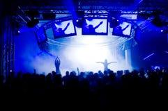 άνθρωποι συναυλίας Στοκ Εικόνα