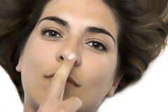 鼻子接触 库存照片