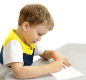 男孩绘画 免版税库存图片