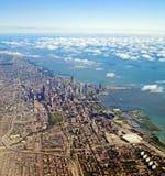 空中芝加哥伊利诺伊视图 免版税库存照片