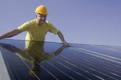 обшивает панелями солнечное Стоковое фото RF