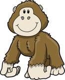 逗人喜爱的大猩猩徒步旅行队向量 免版税库存图片