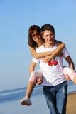夫妇爱年轻人 库存照片