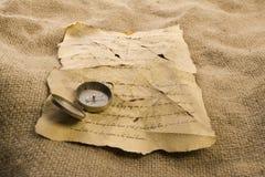 επιστολή πυξίδων Στοκ φωτογραφία με δικαίωμα ελεύθερης χρήσης