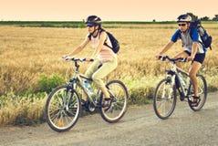 гора велосипедистов Стоковое фото RF