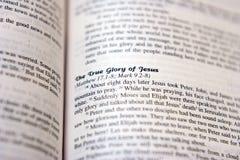 荣耀耶稣 免版税库存照片