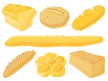 комплект еды хлеба Стоковое Изображение RF