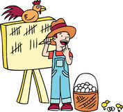 鸡计数不孵化 库存图片