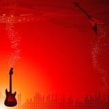 βράχος μουσικής πλαισίων Στοκ εικόνα με δικαίωμα ελεύθερης χρήσης