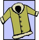 可用的外套文件毛皮夹克向量冬天 库存图片