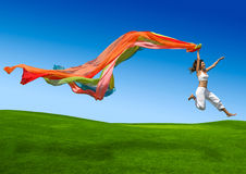 женщина радуги Стоковое Изображение RF