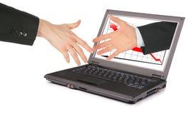 технология партнерства данным по компьютера Стоковые Фото