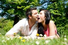 夫妇乐趣公园 免版税图库摄影