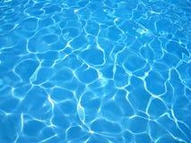 背景蓝色清楚的池水 免版税库存照片