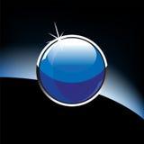стеклянная лоснистая сфера Стоковая Фотография