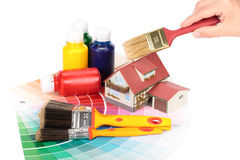 χρωματίζοντας τα εργαλεία διάφορα Στοκ φωτογραφία με δικαίωμα ελεύθερης χρήσης