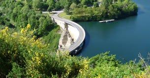 水坝水力发电风景 库存照片