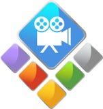 τετράγωνο εικονιδίων ταινιών Στοκ φωτογραφίες με δικαίωμα ελεύθερης χρήσης
