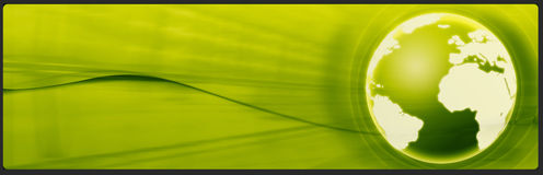 横幅企业标头技术 免版税库存照片