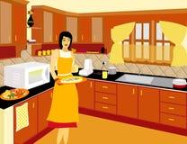 шеф-повар варя домашняя типичную Стоковые Изображения RF