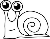 动画片滑稽的蜗牛 免版税库存照片
