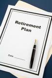 выход на пенсию плана Стоковое Изображение RF