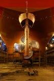 船在干船坞 库存图片