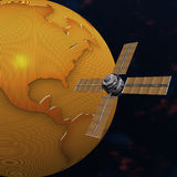 地球轨道的卫星空间斯布尼克 图库摄影