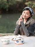 美丽的亚裔妇女 免版税库存照片