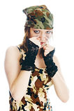 στρατιωτική γυναίκα Στοκ εικόνες με δικαίωμα ελεύθερης χρήσης