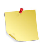 注意粘性黄色 免版税图库摄影
