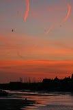 рассвет затем над добрами моря Стоковая Фотография