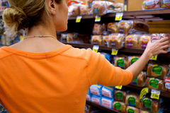 顾客超级市场 免版税库存图片