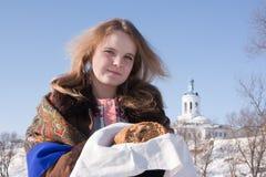 русский хлебосольства Стоковое фото RF