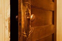 门把手葡萄酒 免版税库存照片