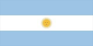 флаг Аргентины Стоковое Фото