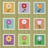γραμματόσημα λουλουδιώ Στοκ εικόνα με δικαίωμα ελεύθερης χρήσης