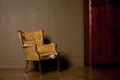античный стул старый Стоковые Фотографии RF