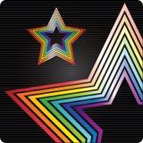 背景彩虹星形 库存图片