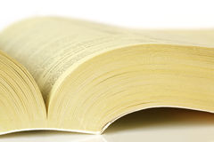 желтый цвет страниц Стоковая Фотография RF
