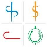 ιατρικό διάνυσμα λογότυπων Στοκ εικόνα με δικαίωμα ελεύθερης χρήσης