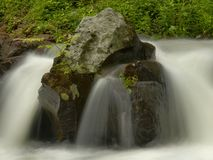 详细资料移动水 免版税图库摄影