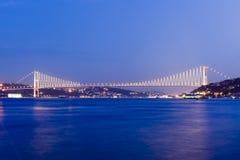 博斯普鲁斯海峡桥梁伊斯坦布尔火鸡 免版税库存照片