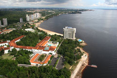 亚马逊市马瑙斯河 免版税库存照片