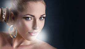 το πρόσωπο ομορφιάς κάνει & Στοκ εικόνα με δικαίωμα ελεύθερης χρήσης