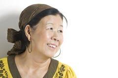 现代亚裔的夫人 免版税库存图片