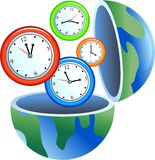 глобус часов Стоковая Фотография RF